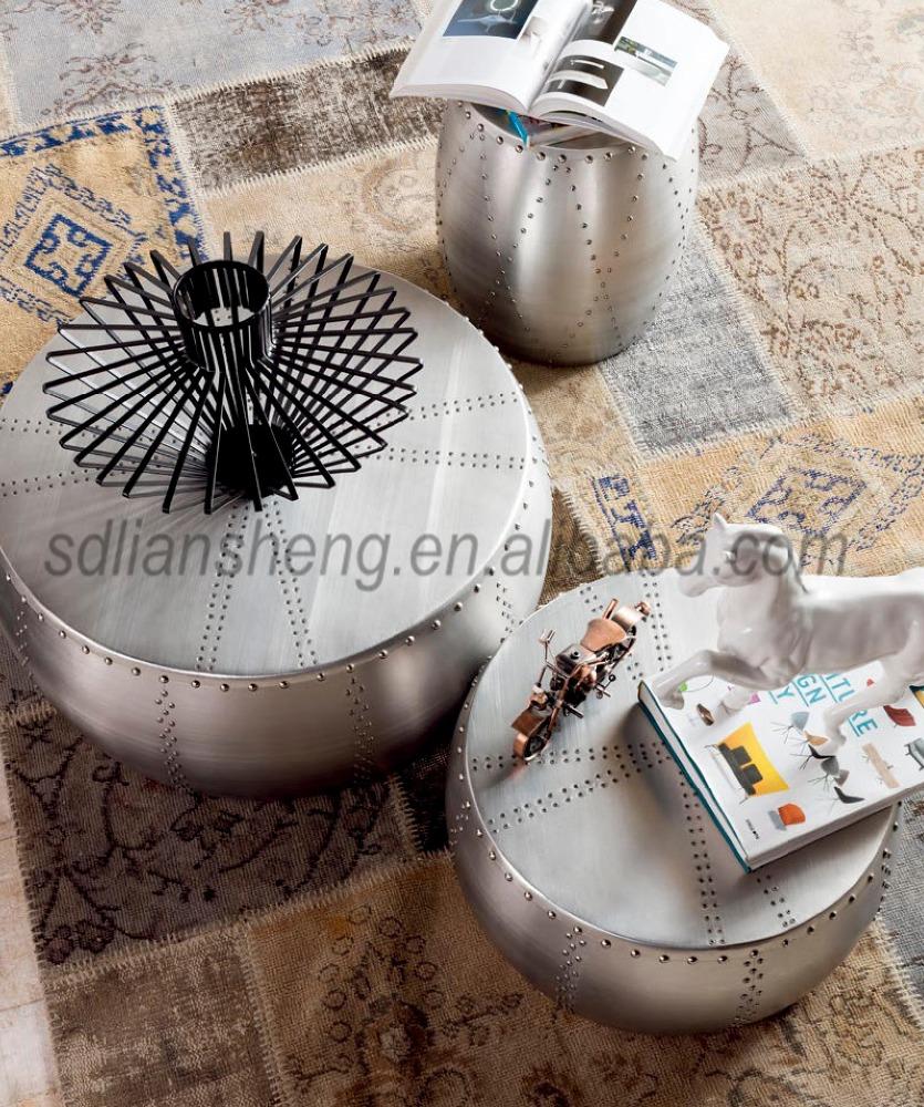 Salontafel merk mode ontwerp aluminium salontafel voor huis ...