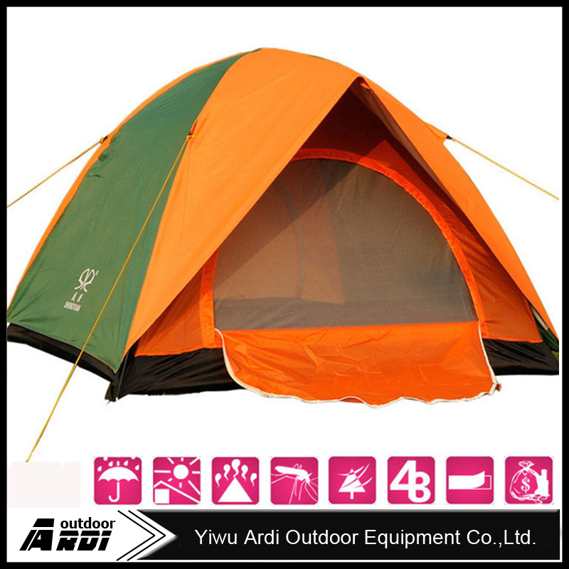 High Quality Double Layer 3/4 Person Rainproof Outdoor Tourist Camping Tent for Bivouac Hiking Fishing Hunting 200*200*135