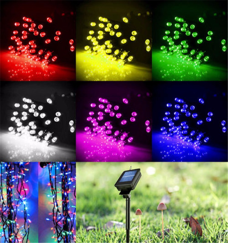 Solar String Lights For Palm Trees : 2016 Hot 12m 100 Leds Solar Power Fairy Lights Holiday Lighting Xmas Holiday Party Outdoor ...