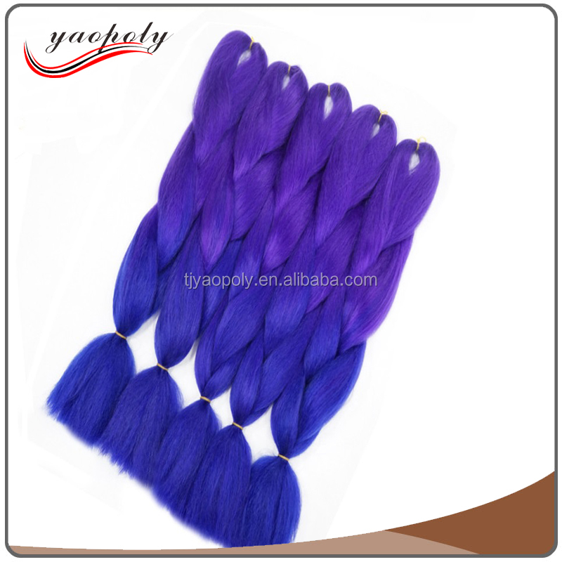 "Hot selling price wholesale 82"" 165g ultra jumbo braid 100 synthetic braiding hair expression fashion and novel"