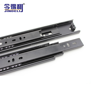 Guangdong manufacturer 3 fold full triple extension 2 balls bearing smooth silent drawer channel slide for cabinet