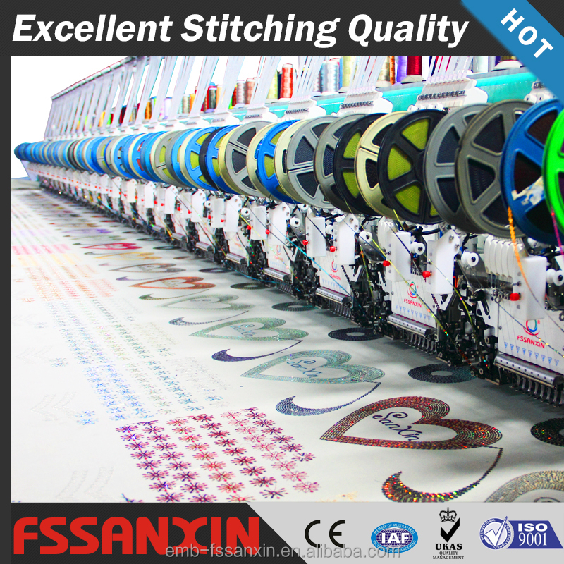 Flat 24 head single sequin embroidery machines for Mexico market
