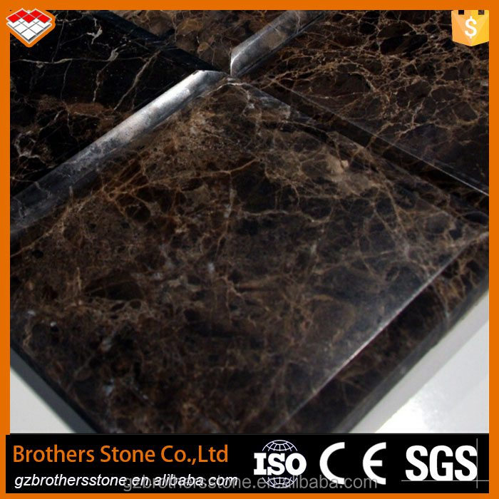 Spanish dark emperador marble slab high quality marble flooring border designs cut to size marble floor tiles