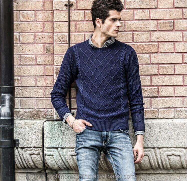 M50803m Nuevo Diseño Para Hombre Suéter Tejido Camisa Patrón Al Por ...