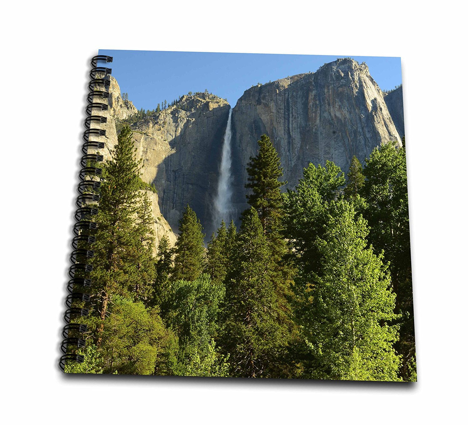 Danita Delimont - Michel Hersen - Waterfalls - Upper Yosemite Falls, Merced River, Yosemite NP, California, USA - Memory Book 12 x 12 inch (db_191679_2)