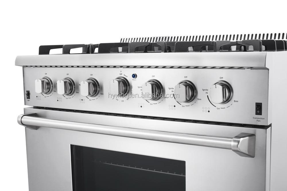 Pro-Style 36 pouce 5.2 pieds cubes 6 brûleur cuisinière à gaz en ...