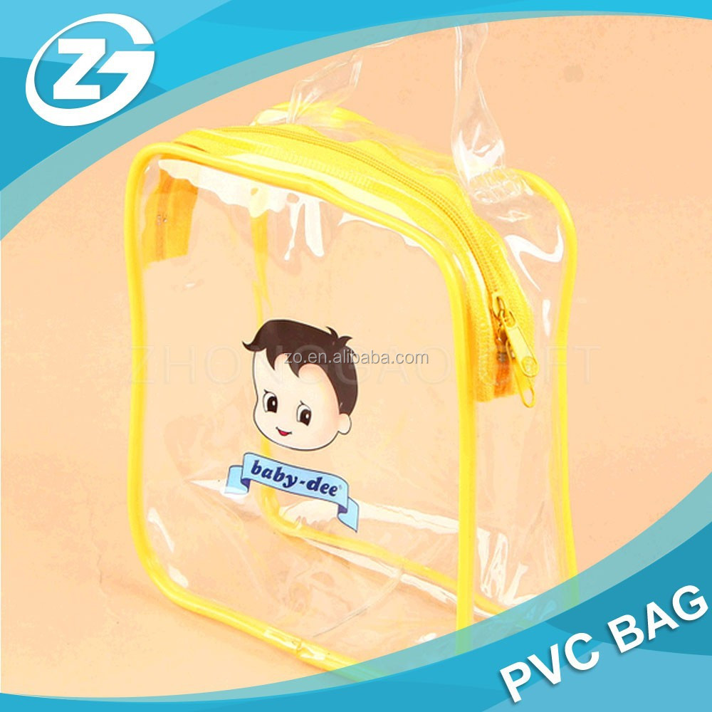 Clear PVC printed bag for advertisement