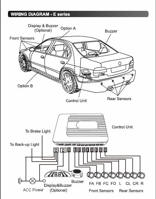 Wiring Diagram For Rear Parking Sensors 39 Wiring Diagram Images
