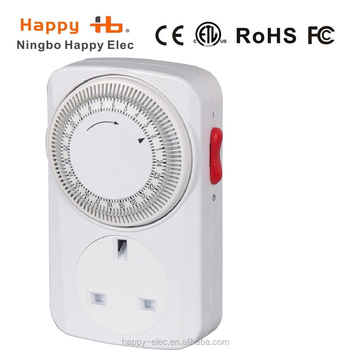 Uk Plug,He05m,24 Hour Daily On Auto,Min. Timer Switch,Programmable ...