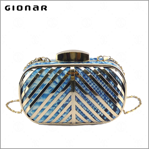 Korean edition hand dinner ladies fashion ladies handbag metal trim manufacturers wholesale ladies handbag