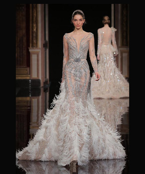 Y See Thought Beaded Elie Saab Formal Evening Dress 2016