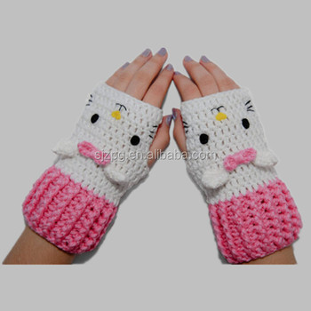 Cute Cat Design Hand Crochet Baby Mittens Buy Crochet Baby Mittens