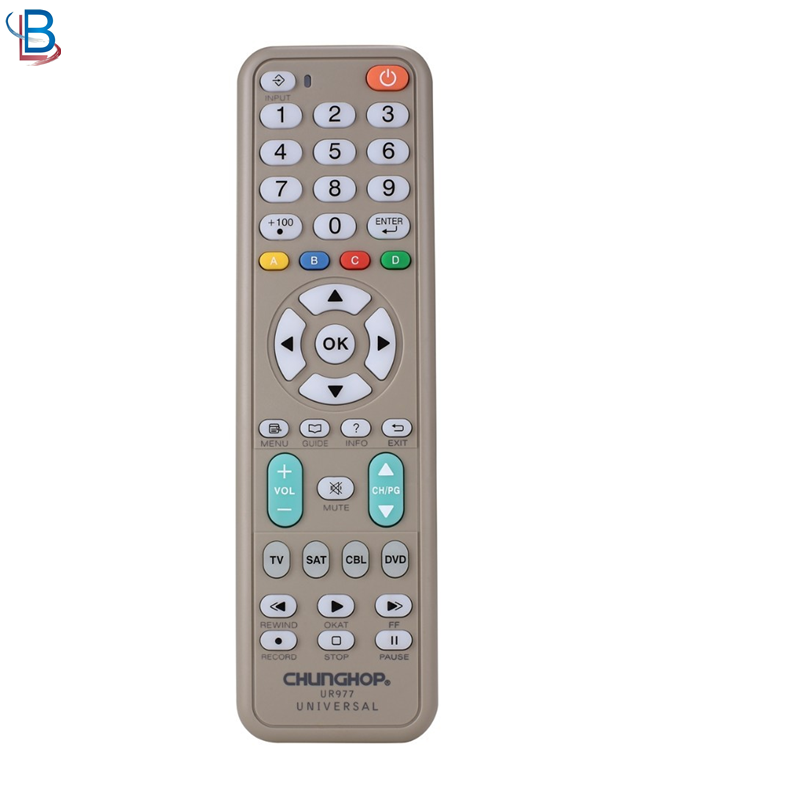 4 in 1 classic type universele UR977 TV afstandsbediening met indicatielampje