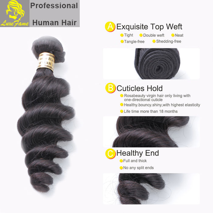 2017 most popular new style virgin golden loose wave human hair