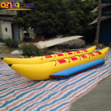 Wholesale price 0.6mm PVC tarpaulin inflatable banana boat for games