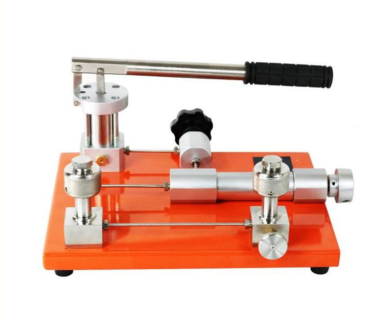 Manual pneumatic gas pressure source/hand pump pressure calibrator