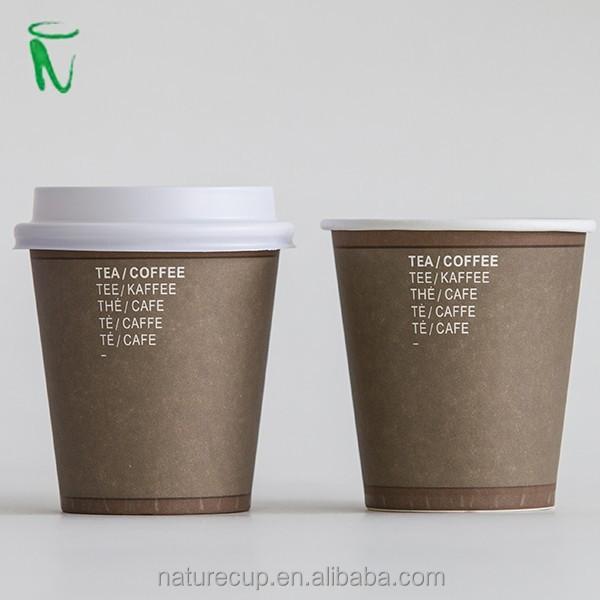 custom logo printed coffee paper cup take away cup 6oz 180ml buy