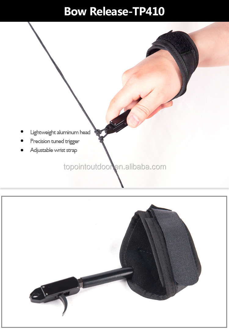 Topoint Archery Tools Compound Bow Caliper Release Aid Trigger Wrist Strap
