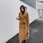 attractive design Cashmere Fabric Winter Trench Handmade Women'S Coat