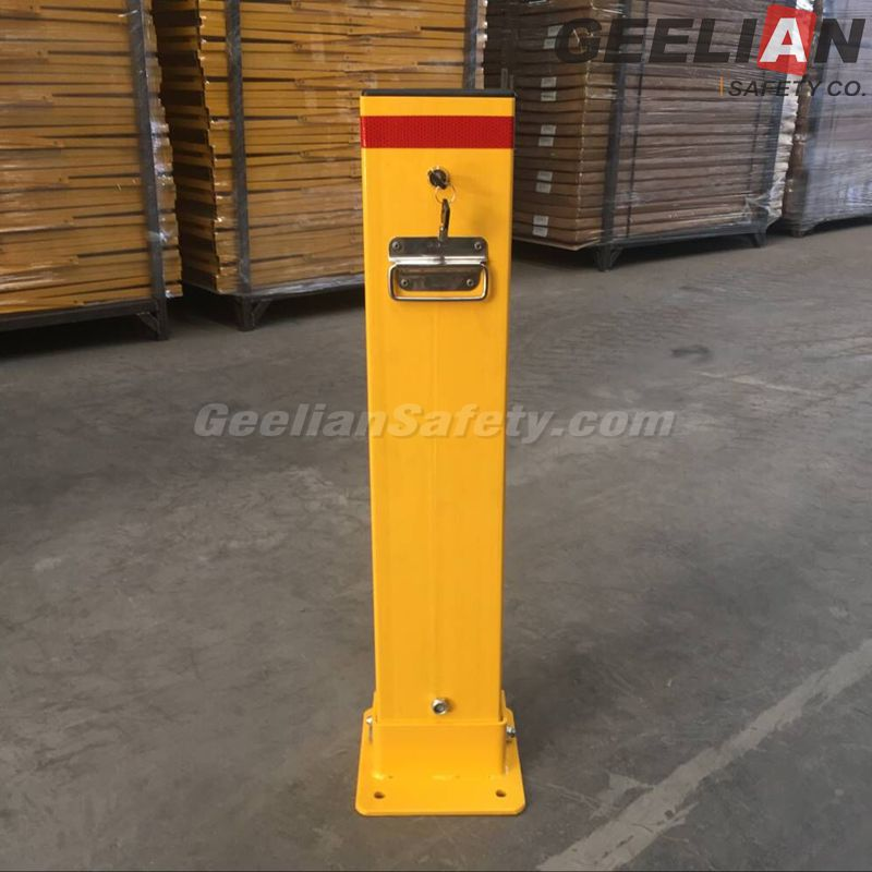 Yellow Solar Powered Remote Contelled Parking Barrier/Solar Powered Parking Locks/Parking Guard
