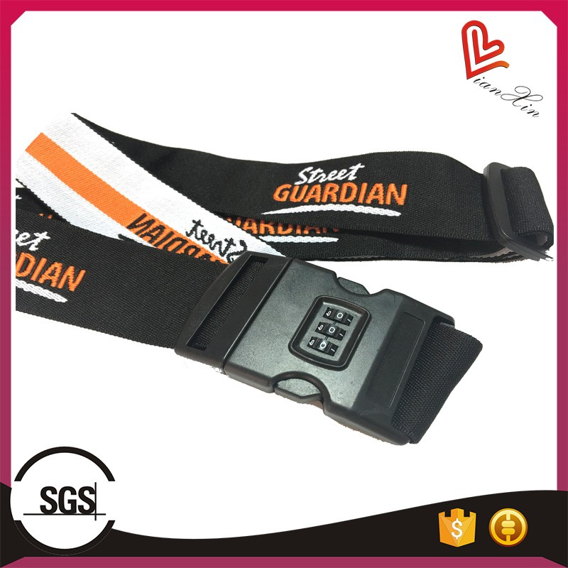 suitcase luggage strap with lock