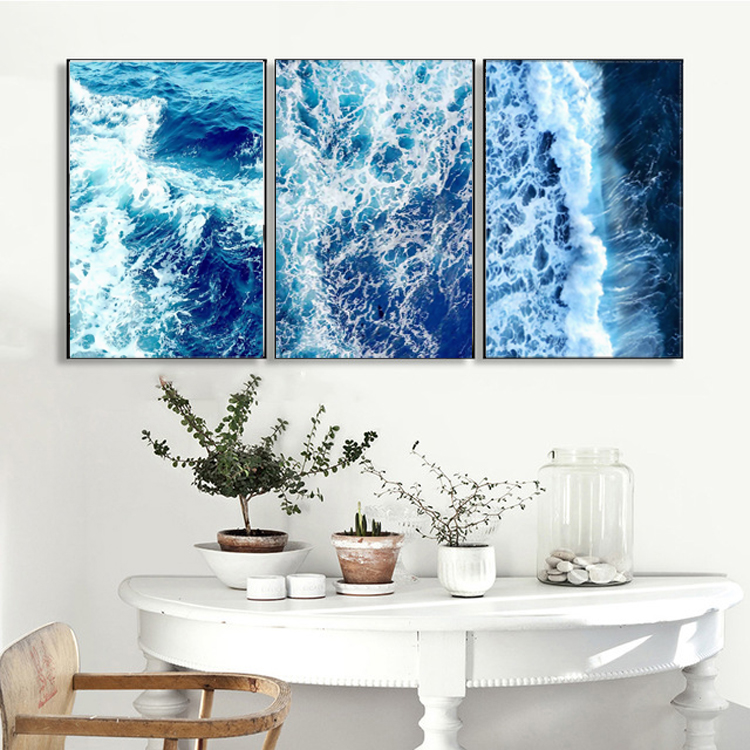 Blue Sea Landscape oil Painting Room decorations paintings on the walls
