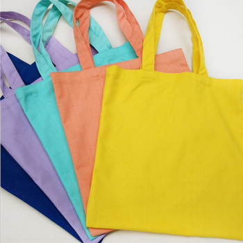 fashion colorful high quality canvas cotton gift bag