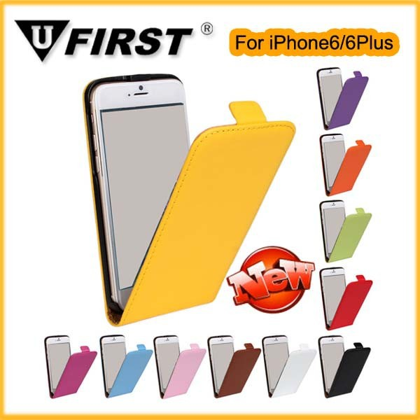 Leather cases;Magnetic Closing Flip Leather Case for iPhone 6/6plus