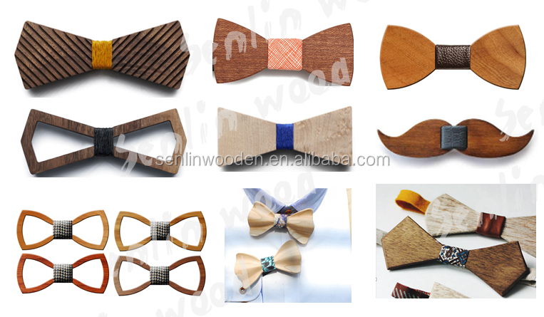 Wooden Bow Ties,Casual Style Carved Pattern Wooden Bowties With ...