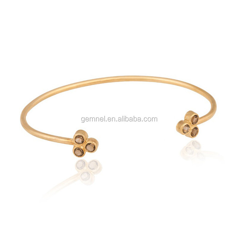 Thin Flower Point Cuff Breslate Design High Quality Gold Bracelet ...
