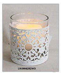 White Metal Lanterns For Wedding Decoration