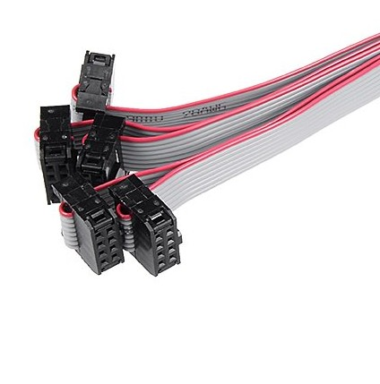 1.27mm 4 6 8 10 12 15 16 20 24 26 30 34 40 pin custom flat ribbon cable with idc connector