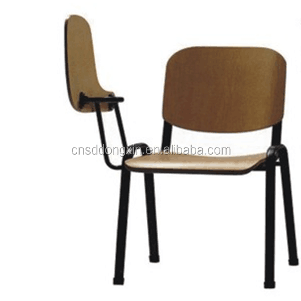 Meeting room chair wood/chairs with tables attached CA02
