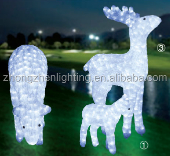 new 3d led lighted deer outdoor christmas decorations - Outdoor Deer Christmas Decorations