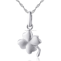925 Sterling Silver Clover Pendant Necklace With lucky