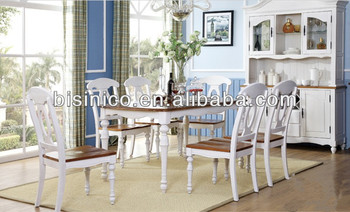 Beau Bisini Dining Set, English Country Style Dining Room Furniture Set Table,  Chairs And