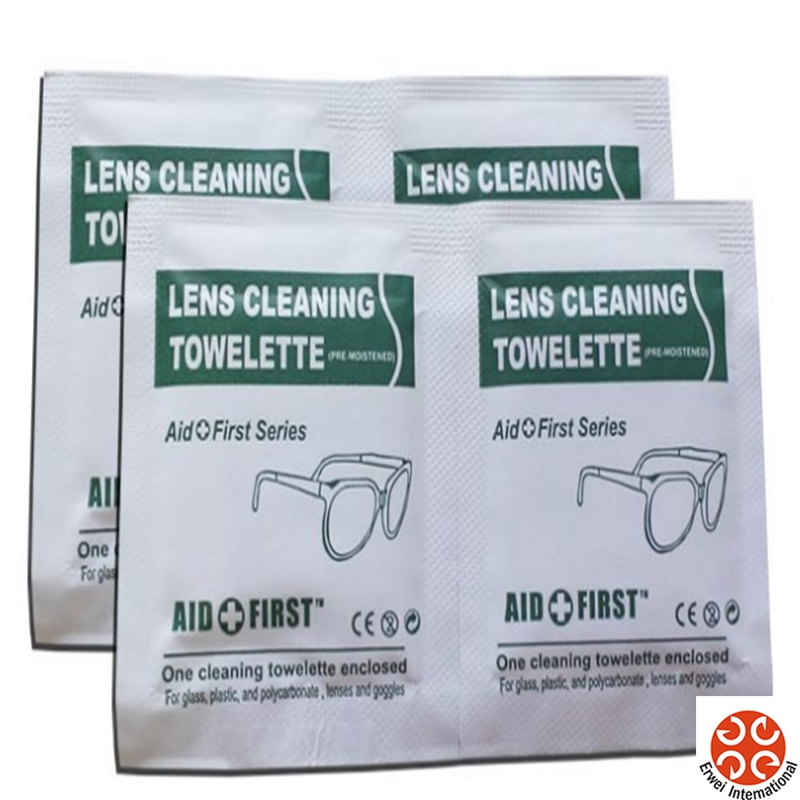 Private Lable OEM Logo Customize Lens Wet Tissues