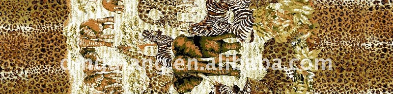 animal printed fleece fabric