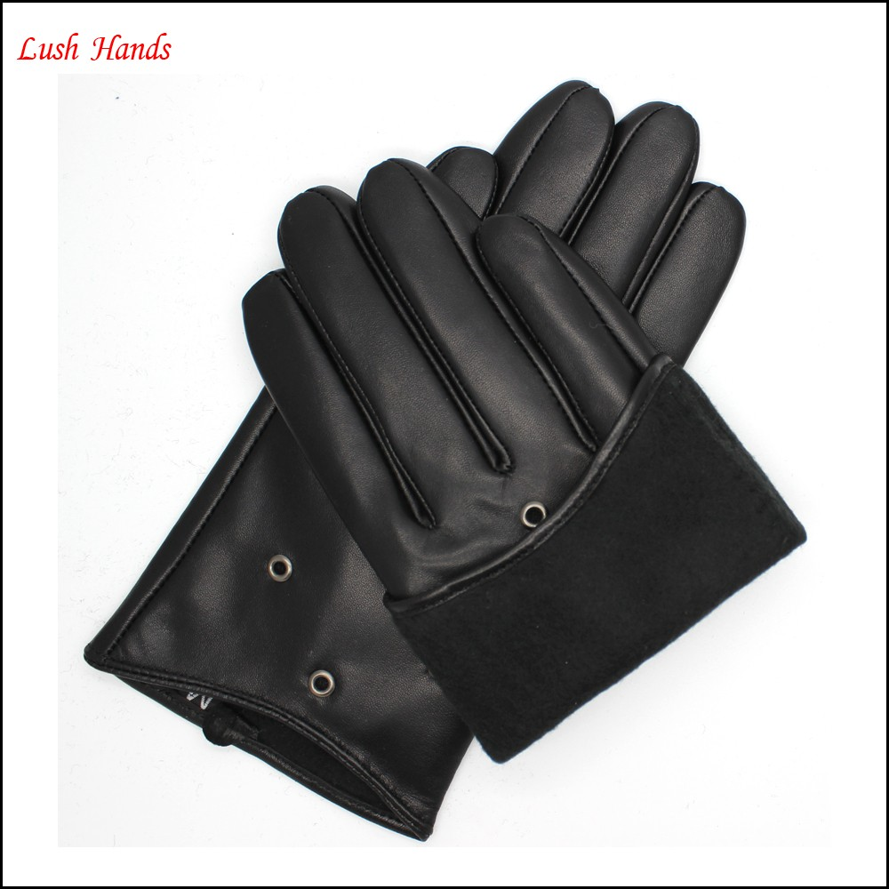 The best sales short leather gloves for lady