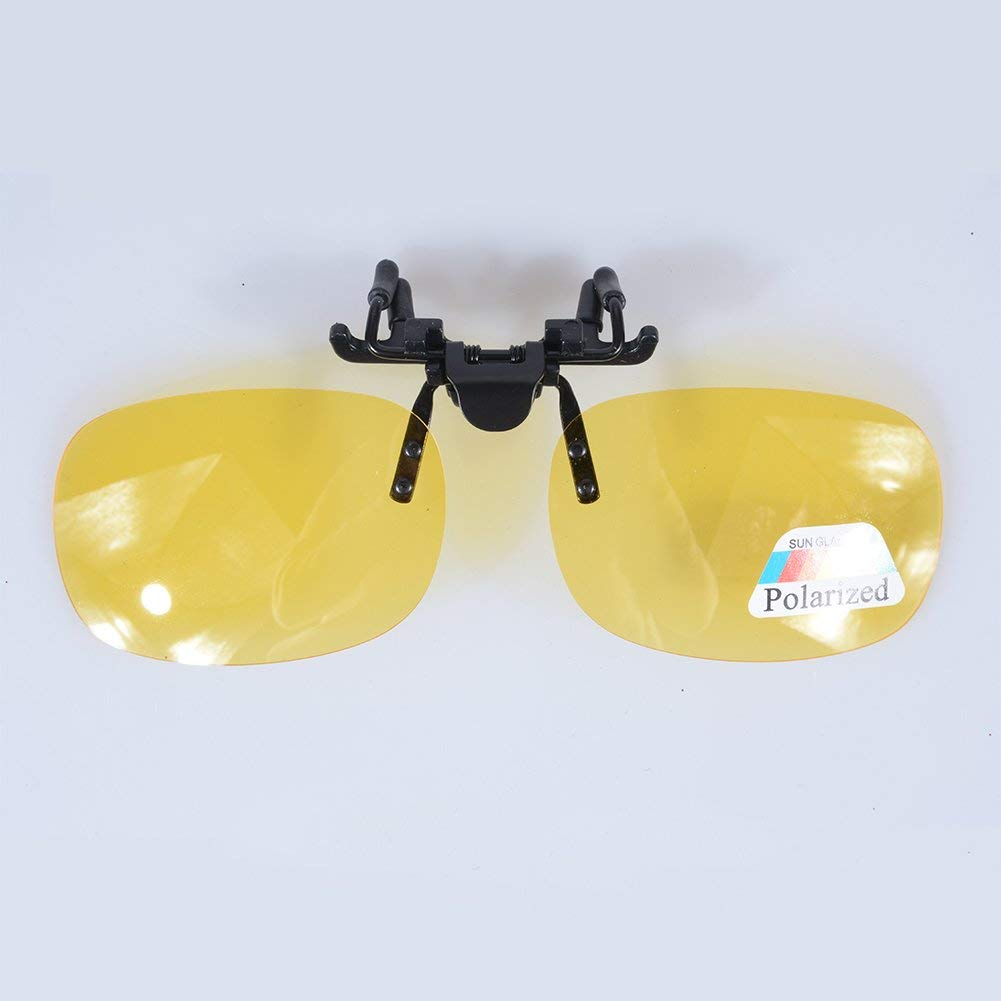 513f7102f07 Meiyiu Polarized Glasses Day Night Vision Driving Sunglasses Clip-on Flip-up  Lens Yellow M