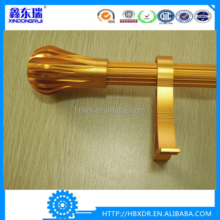 Factory price anodized aluminium engraving pipe curtain rods aluminum poles