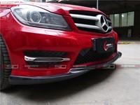 Carbon Fiber Front Lip For 2012-2014 Ben*z W204 C- Class 2/4 Door ...