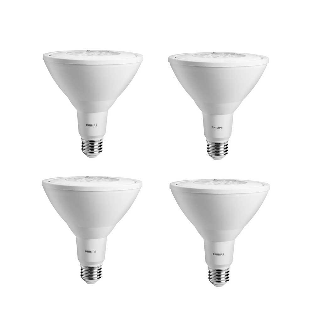 Philips LED Non-Dimmable PAR38 25-Degree Spot Light Bulb: 950-Lumen, 3000-Kelvin, 11-Watt (90-Watt Equivalent), E26 Base, Bright White, 4-Pack