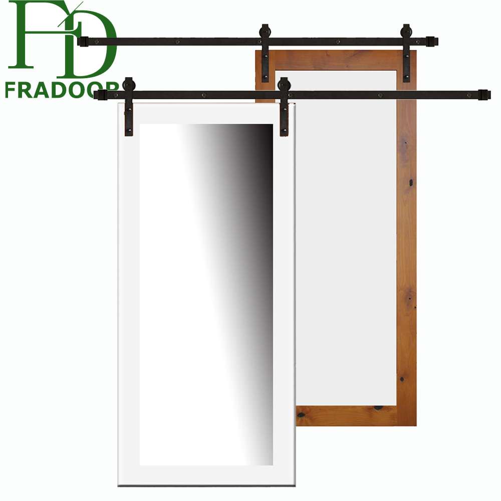 Frameless Invisible Wooden Double Sliding Track Door Buy Double