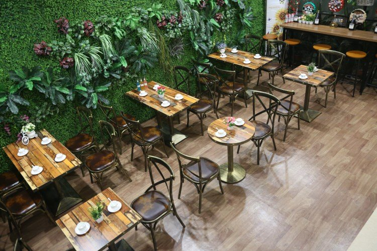 Foshan modern restaurant furniture coffee shop tables and chairs for sale