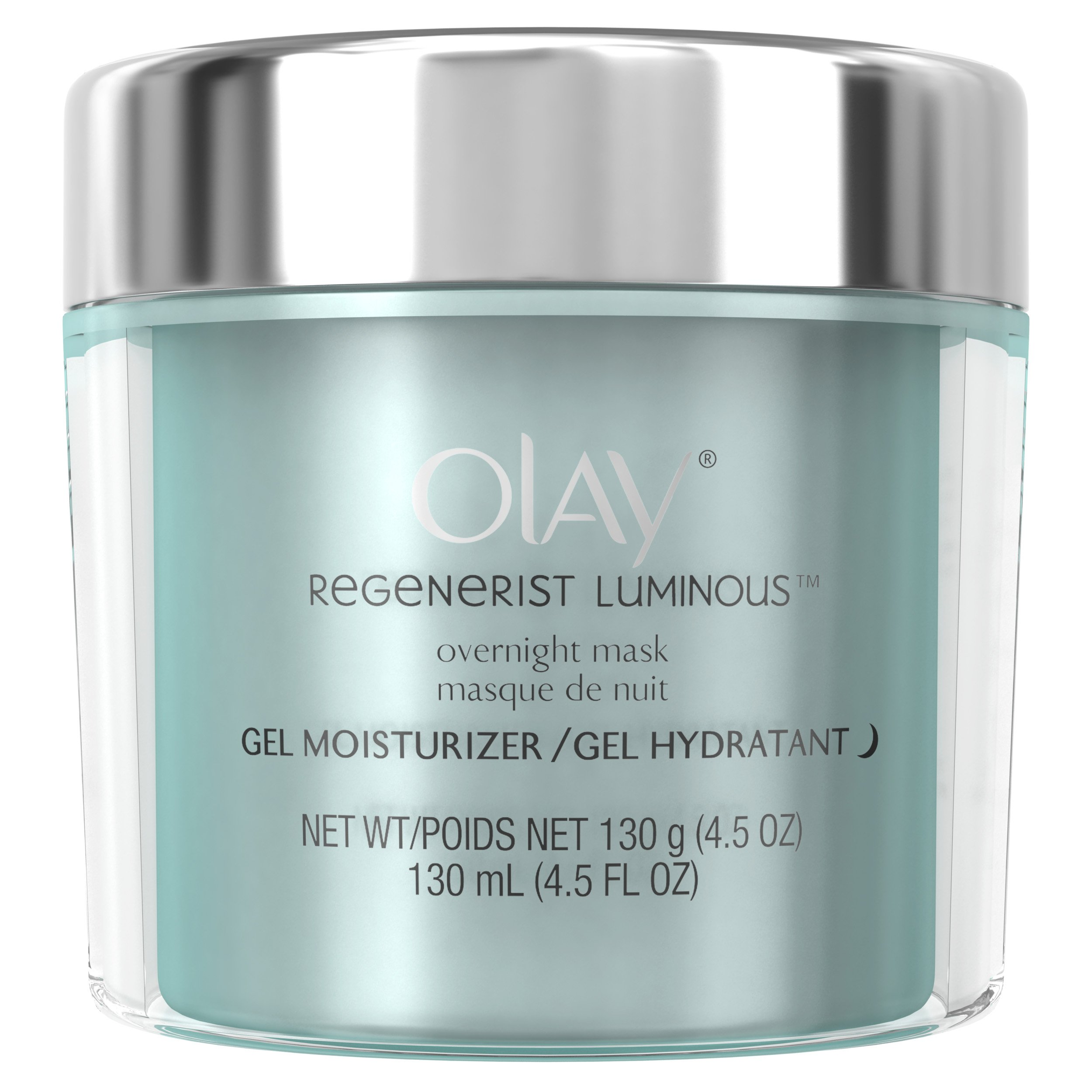 Olay Regenerist Luminous Overnight Facial Mask Gel Moisturizer, 4.5 oz Packaging may Vary