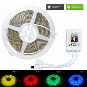 RGB LED strip light 2835 3528 SMD diode led ribbon tape waterproof Bluetooth WiFi 24Key control DC 12V Power Adapter Kit