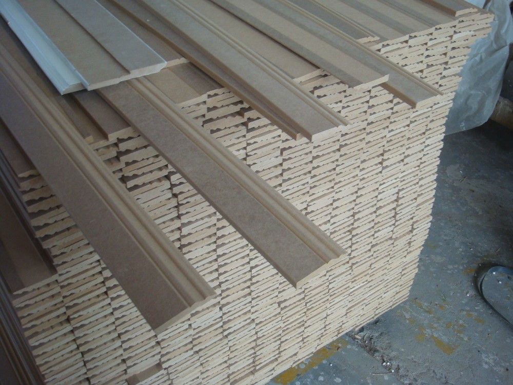 Nowadays home detective mdf wood crown and trim moulding