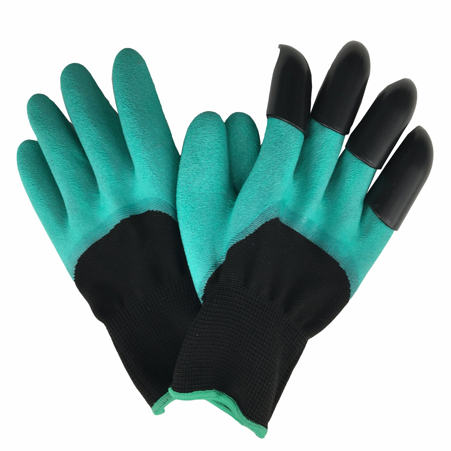 JZJZJZ Garden Genie Gloves with ABS Plastic Fingertips Uniex Claws, Quick and Easy for Digging and Planting