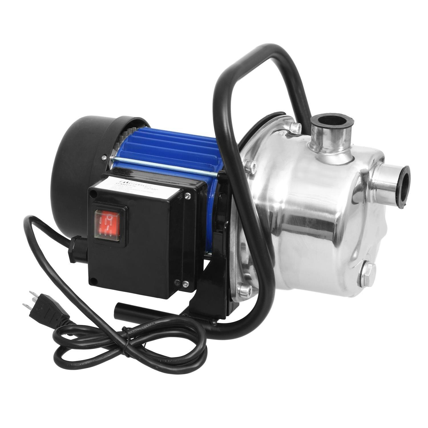Lantusi 1.6HP Portable Stainless Steel Lawn Sprinkling Pump, High Capacity Home Garden Irrigation Water Supply Pump, Booster Pump Shallow Well Pump (US STOCK)